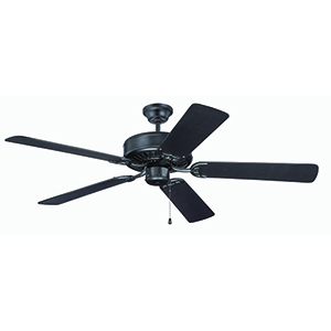 Pro Builder Flat Black Ceiling Fan