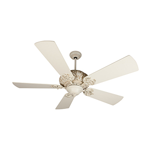 Ophelia Antique White Distressed Ceiling Fan