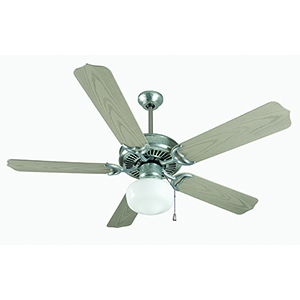 Porch Fan Galvanized Steel Ceiling Fan with LED Light