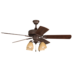 American Tradition Oiled Bronze Ceiling Fan with LED Light
