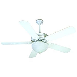 Porch Fan White Ceiling Fan with Light