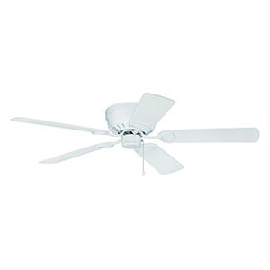 Pro Universal Hugger White Ceiling Fan