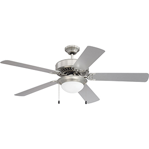 Pro Energy Star 209 Brushed Polished Nickel Ceiling Fan with LED Light