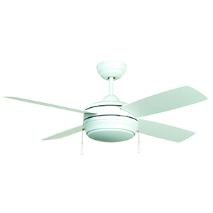 Laval 52 Matte White Ceiling Fan with LED Light