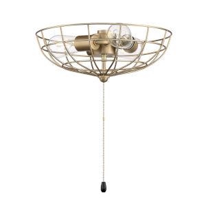 Satin Brass 13-Inch LED Fan Light Kit