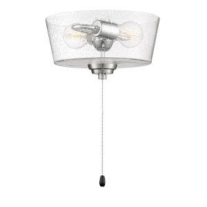 Brushed Polished Nickel 11-Inch LED Fan Light Kit