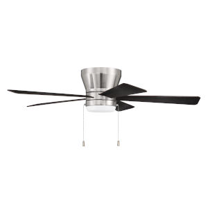 Merit Brushed Polished Nickel 52-Inch LED Ceiling Fan