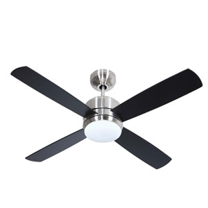 Montreal Brushed Polished Nickel One-Light 44-Inch Ceiling Fan