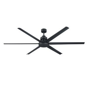 Mondo Flat Black 72-Inch Ceiling Fan