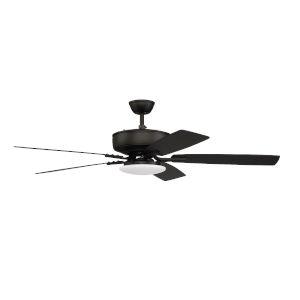 Pro Plus Flat Black 52-Inch LED Ceiling Fan