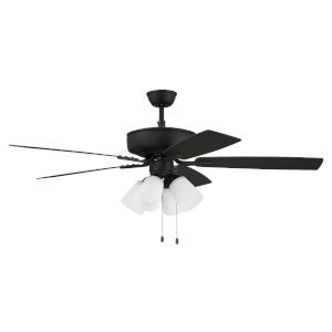 Pro Plus Espresso 52-Inch Four-Light Ceiling Fan with White Frost Bell Shade