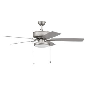 Pro Plus Brushed Satin Nickel 52-Inch LED Ceiling Fan with Frost Acrylic Pan Shade