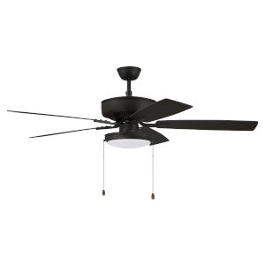 Pro Plus Espresso 52-Inch LED Ceiling Fan with Frost Acrylic Pan Shade