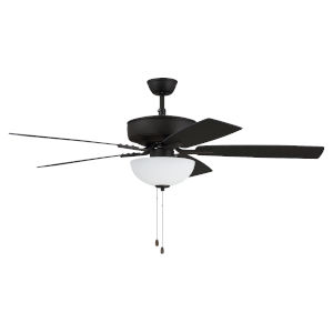 Pro Plus Espresso 52-Inch Two-Light Ceiling Fan with White Frost Bowl Shade