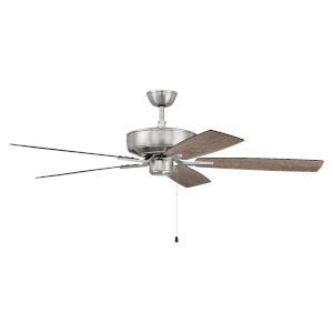Pro Plus Brushed Polished Nickel 52-Inch Ceiling Fan