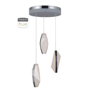 Chrome Three-Light LED Pendant