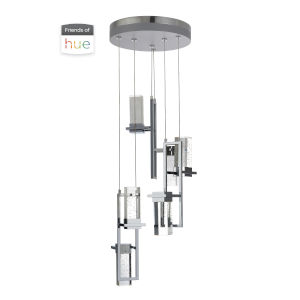 Chrome Six-Light LED Pendant