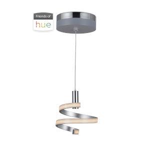 Matte Silver and Chrome LED Mini Pendant