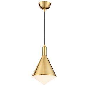 Mirrored Brass LED Mini Pendant