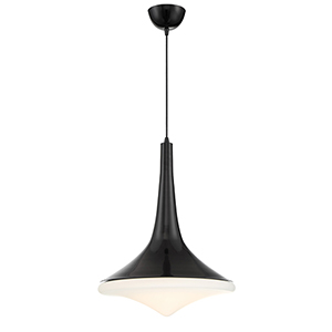 Gloss Black LED Pendant