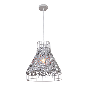 Steel Gray 15-Inch One-Light Pendant