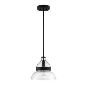 Flat Black 11-Inch One-Light Pendant