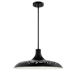 Flat Black 21-Inch One-Light Pendant
