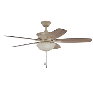 Penbrooke Cottage White Two-Light Led 52-Inch Ceiling Fan