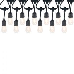 Black 12-Light LED String Light