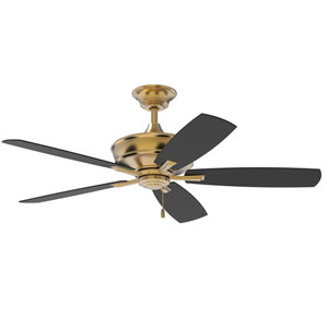 Sloan Satin Brass 56-Inch Ceiling Fan