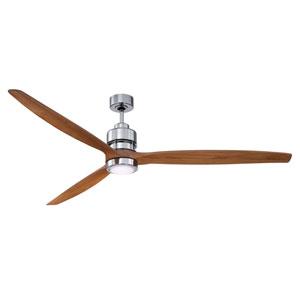 Sonnet Chrome Led 70-Inch Ceiling Fan Kit