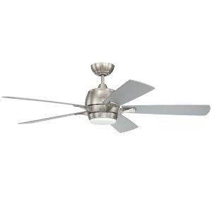 Stellar Brushed Polished Nickel 52-Inch Ceiling Fan