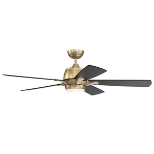 Stellar Satin Brass Led 52-Inch Ceiling Fan