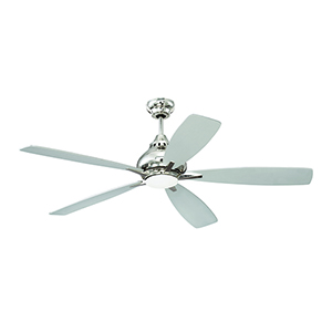 Swyft Polished Nickel Ceiling Fan with LED Light
