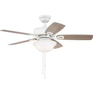 Twist N Click White 42-Inch Ceiling Fan with LED Light