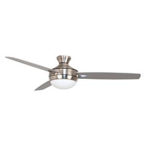 Targas Brushed Polished Nickel Led 52-Inch Ceiling Fan