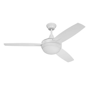 Targas White Led 52-Inch Ceiling Fan