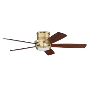 Tempo Hugger Satin Brass Led 52-Inch Ceiling Fan