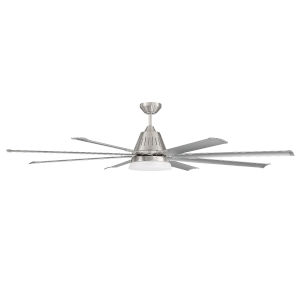 Wingtip Brushed Polished Nickel 72-Inch Ceiling Fan