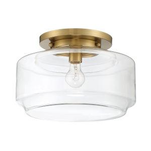 Peri Satin Brass 14-Inch One-Light Flushmount