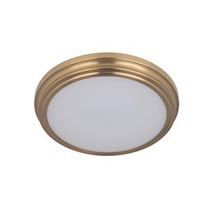 Satin Brass LED Flushmount