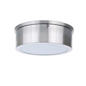 Fenn Brushed Polished Nickel 9-Inch LED Flushmount