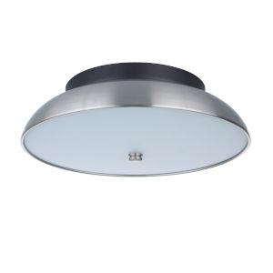 Soul Flat Black and Brushed Polished Nickel 11-Inch LED Flushmount