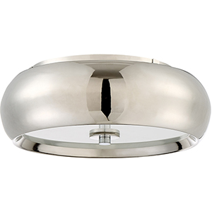 Polished Nickel LED Flushmount