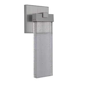 Aria Satin Aluminum LED Outdoor Wall Lantern