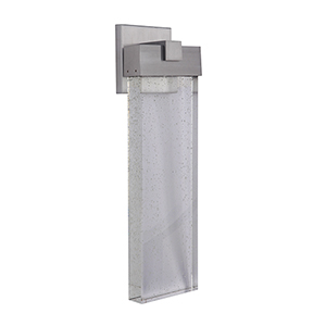 Aria Satin Aluminum Six-Inch LED Outdoor Wall Lantern