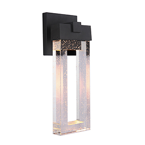 Cantrell Textured Matte Black Six-Inch LED Outdoor Wall Lantern