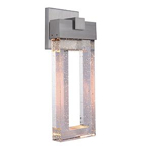 Cantrell Satin Aluminum LED Outdoor Wall Lantern