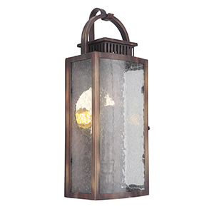 Hearth Weathered Copper Six-Inch LED Outdoor Pocket Lantern