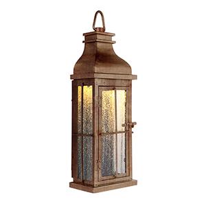 Vincent Weathered Copper LED ADA Outdoor Pocket Lantern